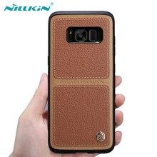Для Samsung Galaxy S8 S8 плюс Чехол, NILLKIN Берт Высокое качество искусственная кожа задняя крышка для S8 S8 + бизнес Стиль Роскошный телефон случаях