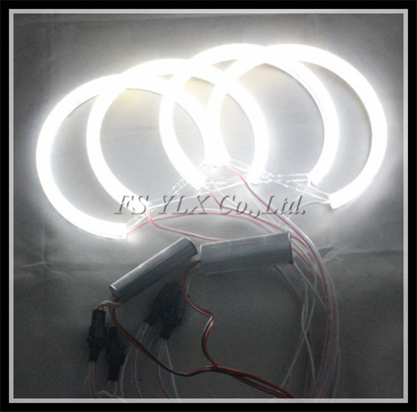 131mm LED angel eyes rings SMD 42 LED angel eyes for BMW E36 E38 E39 E46 projector LED halo rings kit for BMW LED SMD angel eyes led rings white 3014 smd led angel eyes headlight halo ring marker 131mm 145mm for bmw e46 non projector