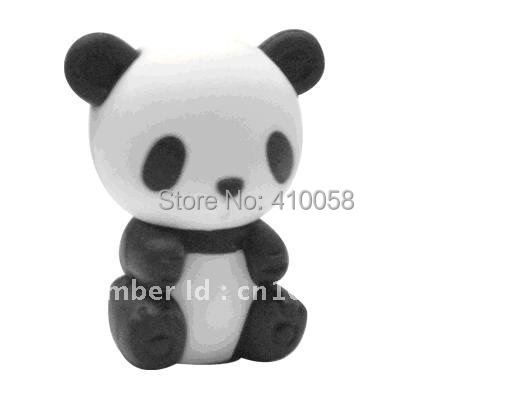 Free Shipping Wholesale/retail Discount Animal  Chinese Panda  Eraser For Children School Stationery Eraser/ Children Gift