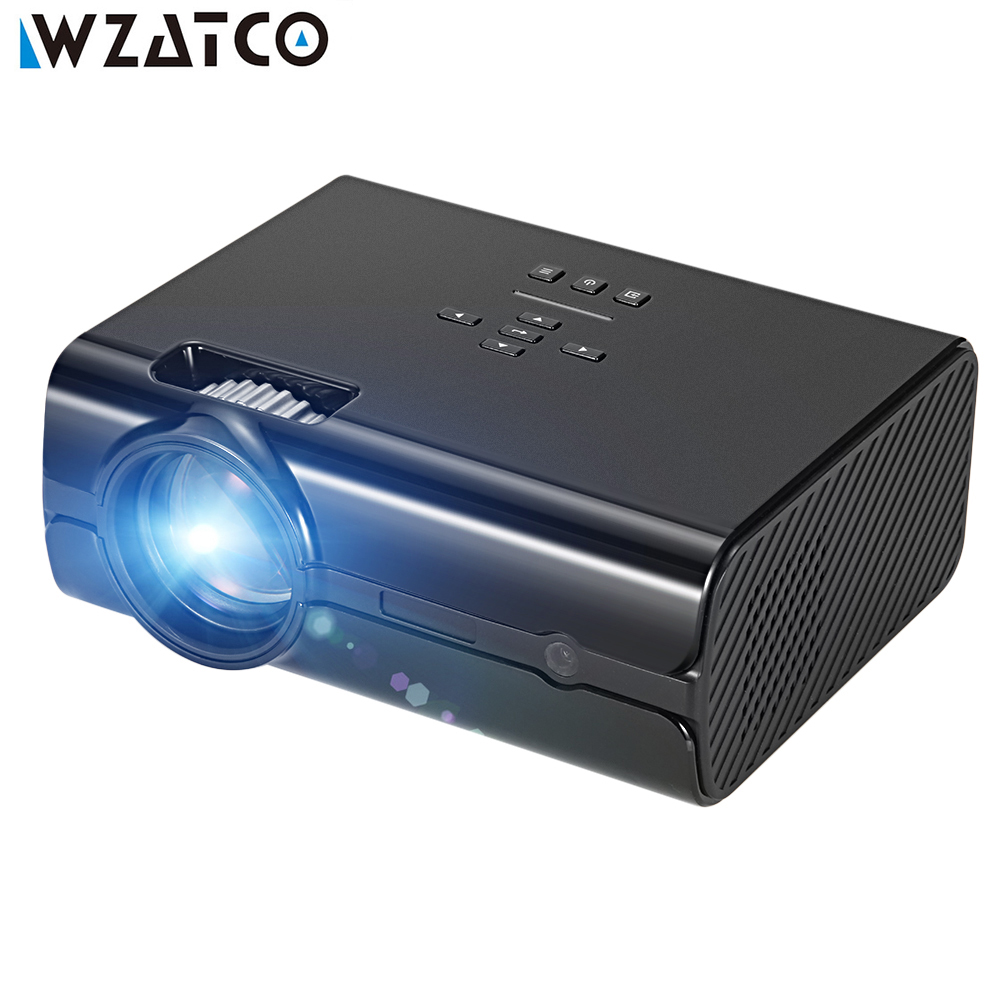 WZATCO Projector CT68S 2000lu Full HD 1080P Portable 3D LED Projector Android 6.0 Optional Smart Home Theater Beamer Proyector jmgo view jmgo p2 dlp mini projector led wifi 3d full hd 1080p smart theater 180 inch hifi bluetooth portable proyector beamer