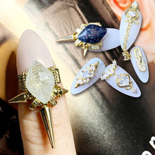 10pcs/lot Crown 3D Alloy Nail Art Zircon metal manicure nail accessories Jewelry DIY Decoration Crystal stone charms