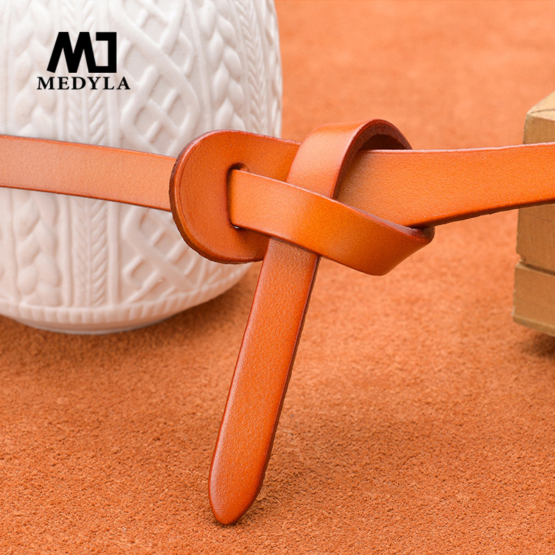 MEDYLA Luxury Women Belts Cow Genuine Leather Fashion Design Strap Female Nice Quality Cinto Feminino Original Brand