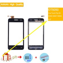 For Alcatel One Touch Pop S3 OT5050 OT-5050 5050x 5050 Touch Screen Touch Panel Sensor Digitizer Front Glass Touchscreen NO LCD lcd for alcatel one touch flash 6042 ot6042 6042d lcd display touch screen digitizer panel assembly for alcatel one touch flash