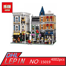 Lepin 15019 4002pcs MOC Creative Series The Assembly Square Set Building Blocks Bricks Toys Small piece block 10255 Educational
