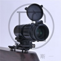 Viewfinder Magnifier 3x Type Compact Tactical Sight Rifle Scope With Flip To Side Weaver 20mm Picatinny