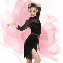 Children Latin Dance Dresses Ballroom Dance Competition Dresses Latin Dance Dress Salsa Dancewear Tango Clothes for Girls