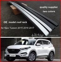 For Hyundai New Tucson 2015 2016 Roof Rack OEM Model Roof Rail Bar Silver Or Black