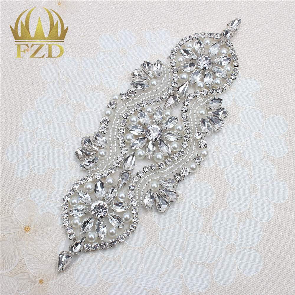 (30pieces) Iron On Crystal Beaded Sewing Wholesale Bridal ...