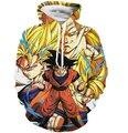 Классический Dragon Ball Супер Саян Толстовки С Капюшоном Мужчины Женщины Аниме Толстовка Толстовка Гоку/Вегета Печати 3D Толстовки Пуловеры