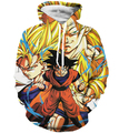 Classic Dragon Ball Super Saiyan Hooded Sweatshirts Men Women Anime Hoodie Sweatshirt Goku/Vegeta Print 3D Hoodies Pullovers
