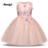 Berngi Girl Princess Dress New Pink Little Baby Summer Frock Tulle Costume For Kids Clothes in Party Wear