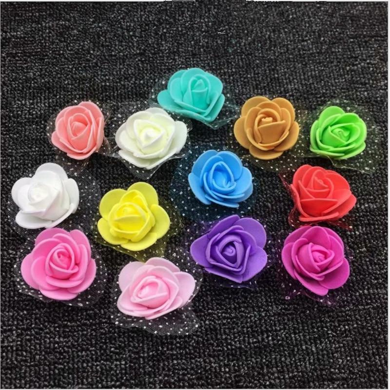 50 шт./лот 3,5 см Моделирование пузырь PE розы свадебный ручной работы декоративные поддельные венок невесты холдинг букет