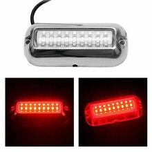 Czerwona dioda LED pod wodą ponton łódź morska pawęży światło ze stali nierdzewnej o mocy 50 W