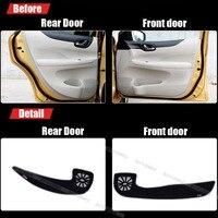 4pcs Fabric Door Protection Mats Anti kick Decorative Pads For Nissan Tiida 2011 2014