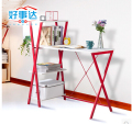 Students creative desktop computer desk 100 cm modern red + white desk bookcase conjoined combination