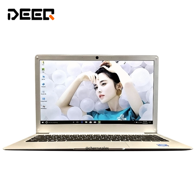 Laptop Windows 10 Intel Apollo Lake N3350 Dual Core 6GB RAM 64GB ROM 13.3 Inch M.2 SSD Port Ultrabook with Bluetooth WIFI Camera