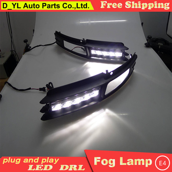 Car Styling Daytime Running Lights for A6 LED DRL 2009-2011 A6 LED Fog Light Front Lamp Automobile Accessories