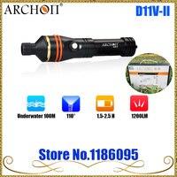 Free Shipping ARCHON D11V II/ D11V II/W17VII 100M Underwater Snorkeling Diving Light Flashlight Torch Max 1200 lumens