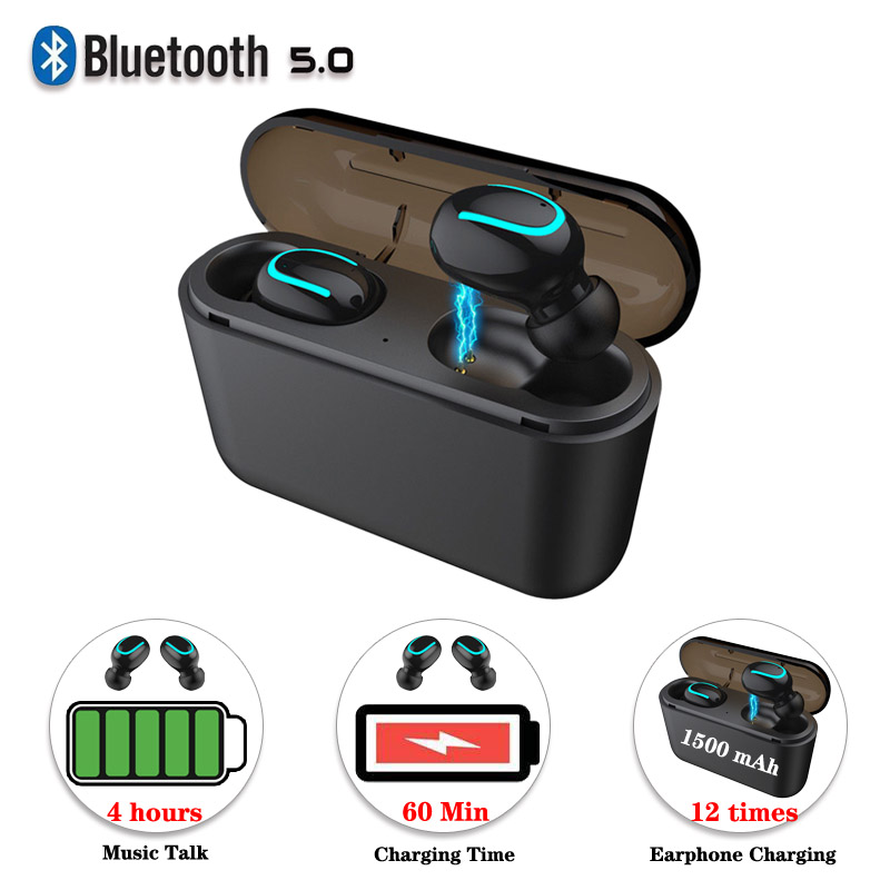For Iphone Android Earpod Bluetooth 5.0 Headphones Stereo Wireless  Earphones,1500mAh Charging Box Q32 Earbuds Headset PK I10