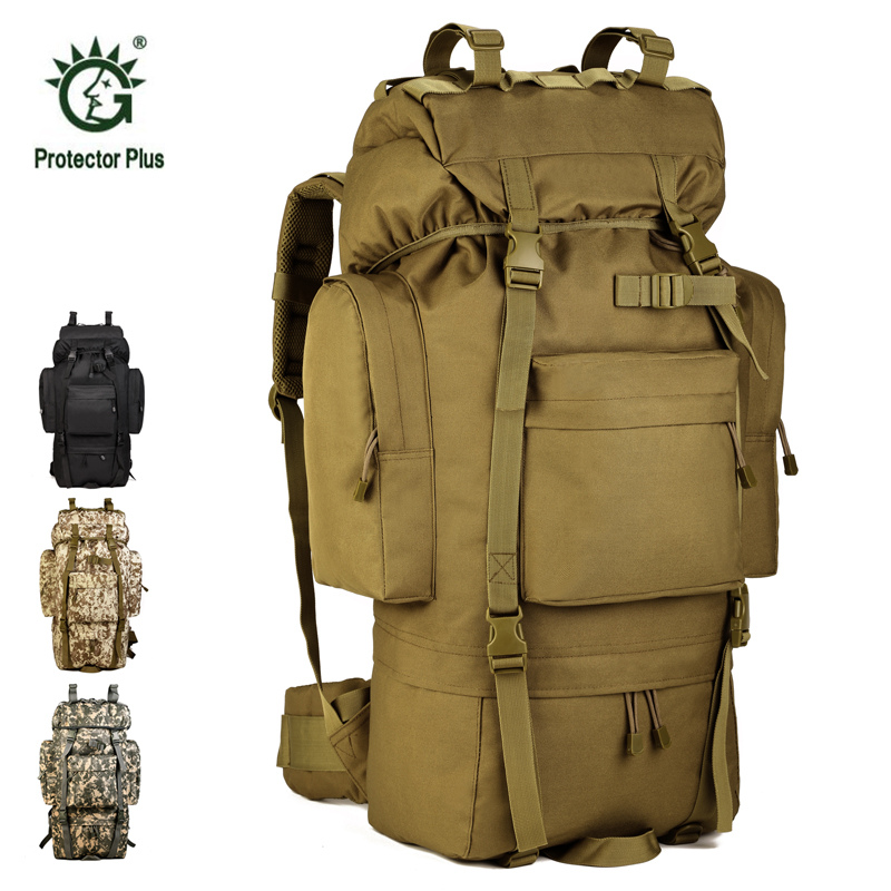 65L Camouflage Bag Big Volume Outdoor Bags Military Molle Tactical Bag Rucksack Backpacks Army Large Capacity Hiking Camping Bag 80l outdoor backpack large capacity camping camouflage military rucksack men women hiking backpack army tactical bag