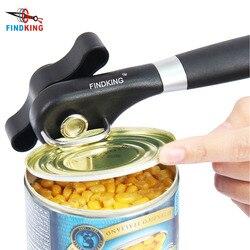 Findking latas de cozinha abridor de aço inoxidável profissional gadgets manual abridor de lata lateral corte manual abridor de lata de acampamento
