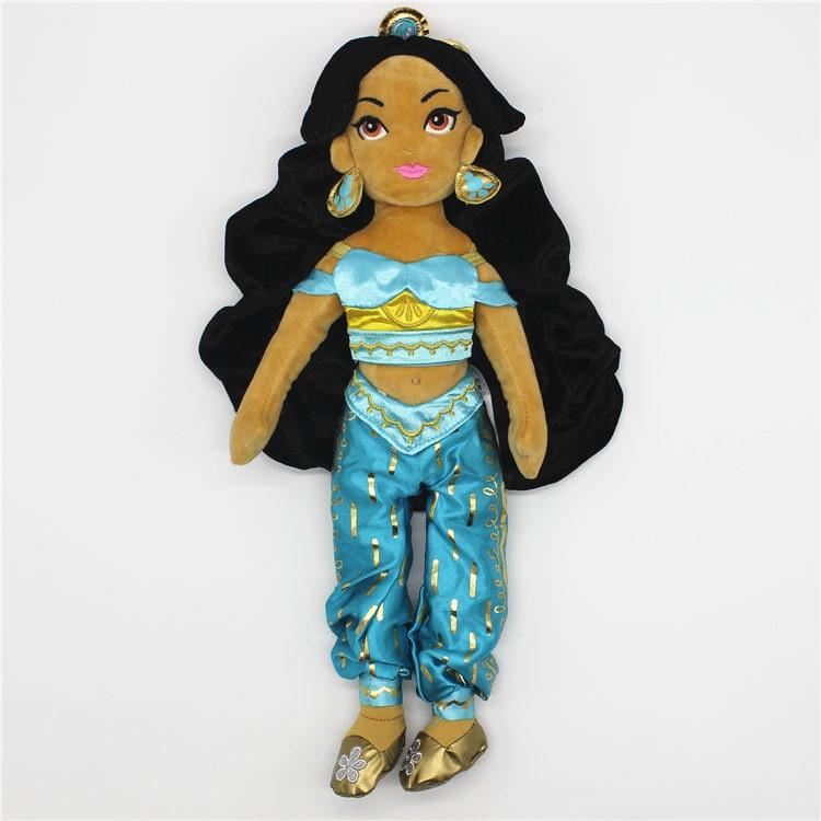 1pcs 38cm Aladdin and the magic lamp plush toys Princess Jasmine Plush Doll Toy Cute Stuffed Baby Kids Toys Dolls 9cm aladdin jasmine princess collection figure toys aladdin and the magic lamp home decoration figure toys