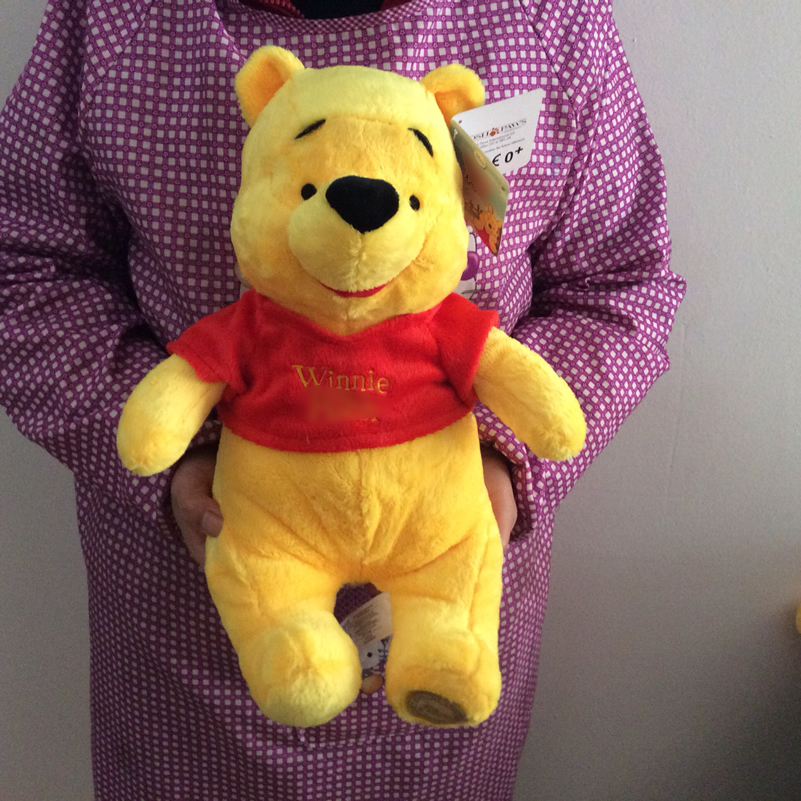 Free Shipping 35cm 13.7'' Original Winnie Yellow Bear Stuffed Animals Toys Plush Doll For Boy&girl Birthday Gift