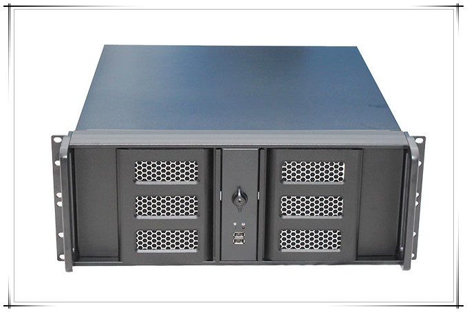 4U aluminum panel double door server industrial control cabinet 4U480L box 8 hard disk position monitoring aluminum panel ultrashort 3u server computer case pc small plate dvr l routing monitoring a common power supply