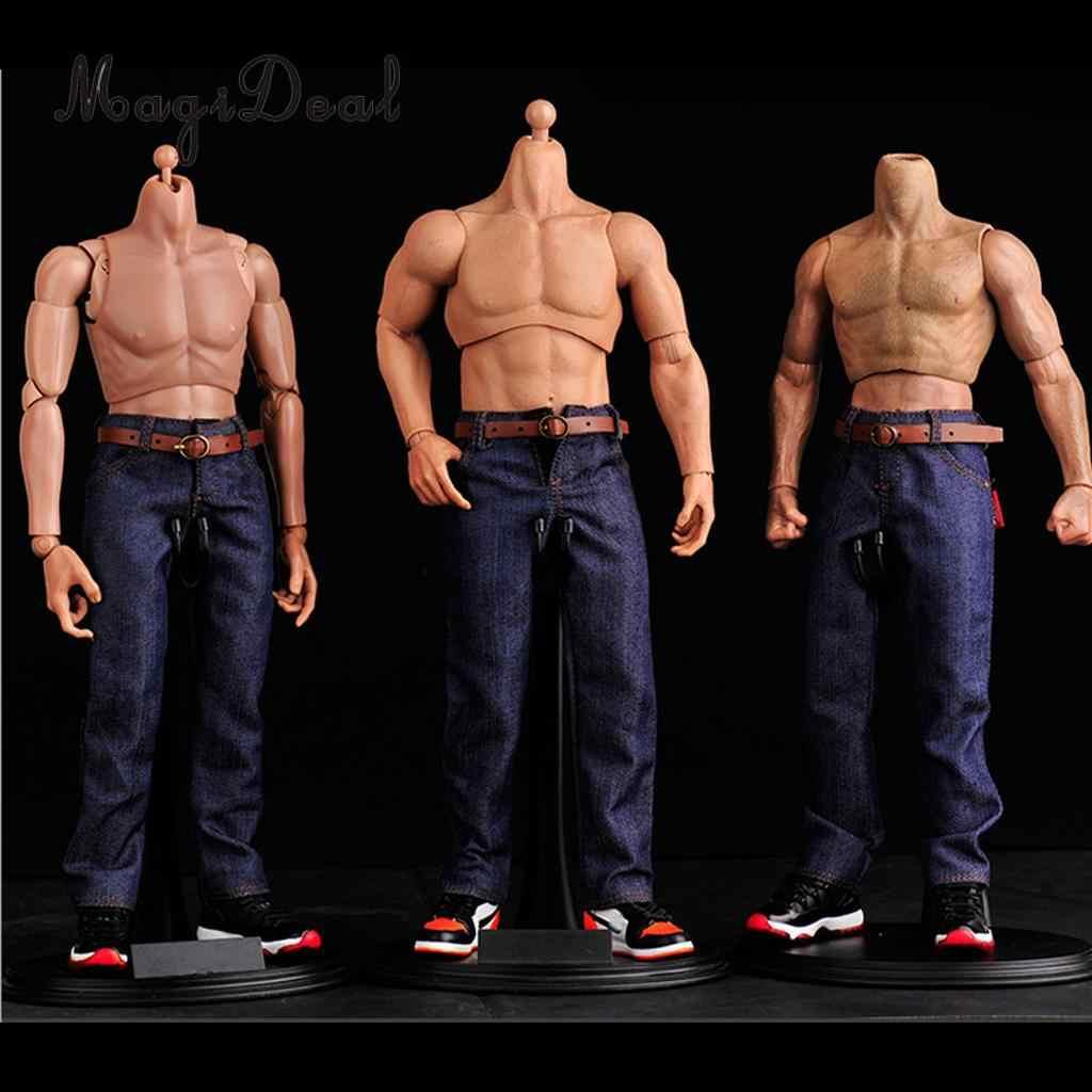 HAOYU TOYS 1:6 Scale Black Skin Male Muscle Sports Body