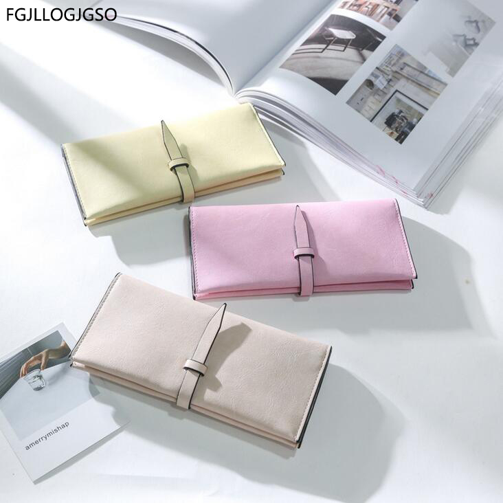 Female wallet Europe new fashion Women Large capacity leather wallet for lady Solid color Multi-card bit high quality money bag