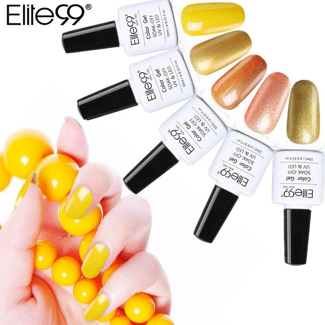Elite99 Gelb Farbe Serie 10 ml Nagel Gel Polish UV Gel LED Lampe Maniküre Basis Top Coat Soak Off Hot langlebige Nail art Gel