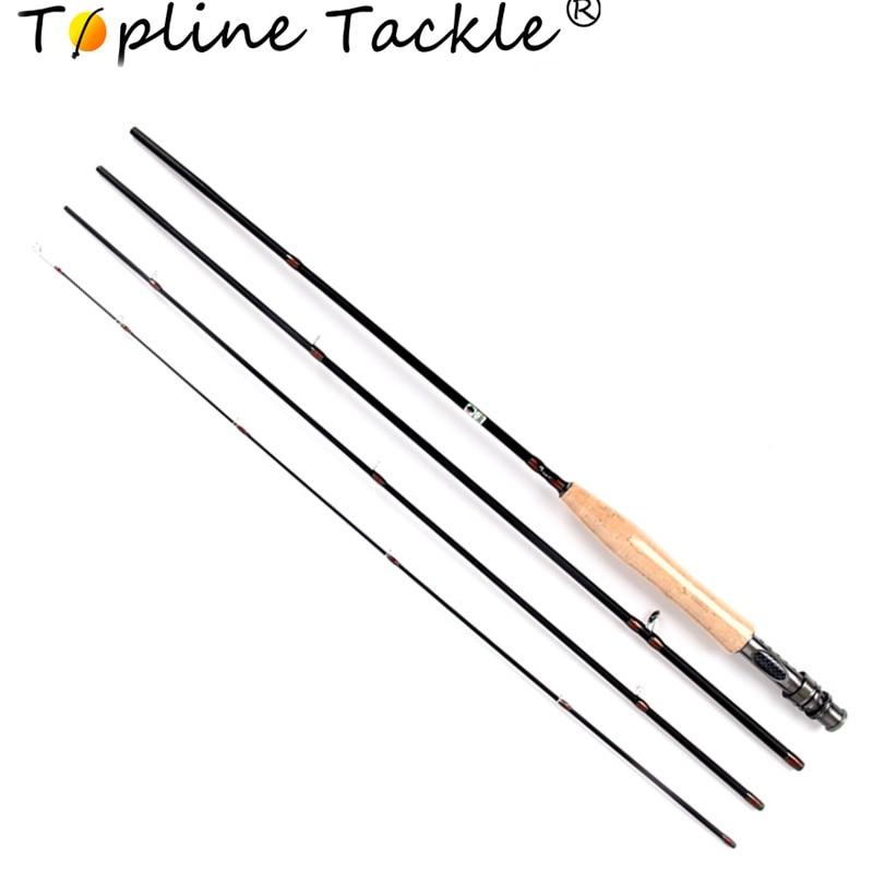 Topline TackleCarbon Fly Fishing Rod 2.4m 2.7m 119g 3/4OZ 5/6OZ 4 Section Fly Fishing Rod удочка good fishing nepalese tdg021 4 5 5 4
