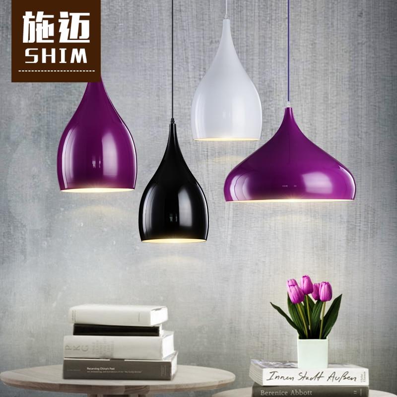ФОТО Modern minimalist pendant modern style dessert shop cafe personality bar single head aluminum small pendant lights