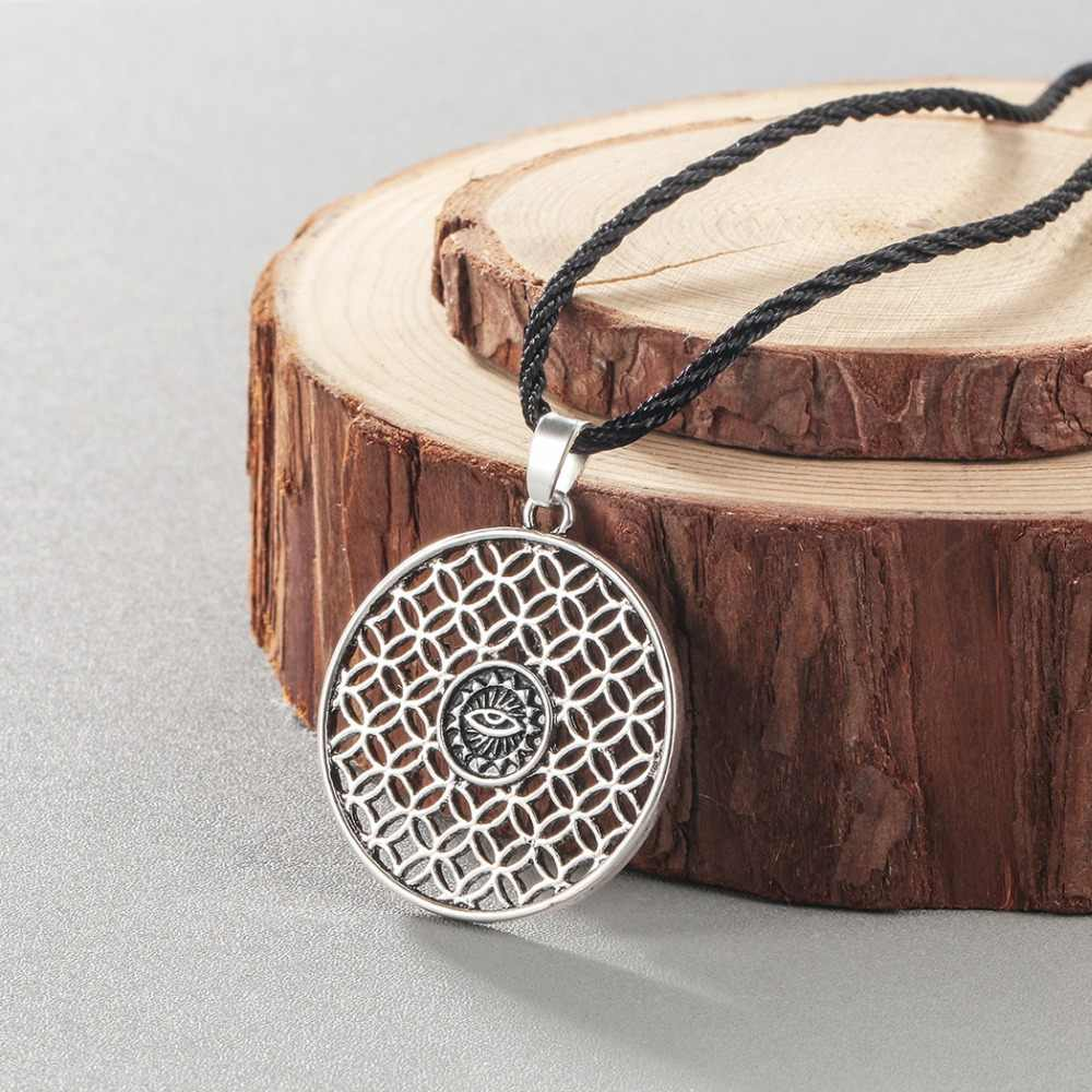 Amulet wikinga kobiety mężczyźni naszyjnik wilk smok arabski Symbol słowiańska biżuteria złe oko Retro Punk naszyjnik rosyjski prezent