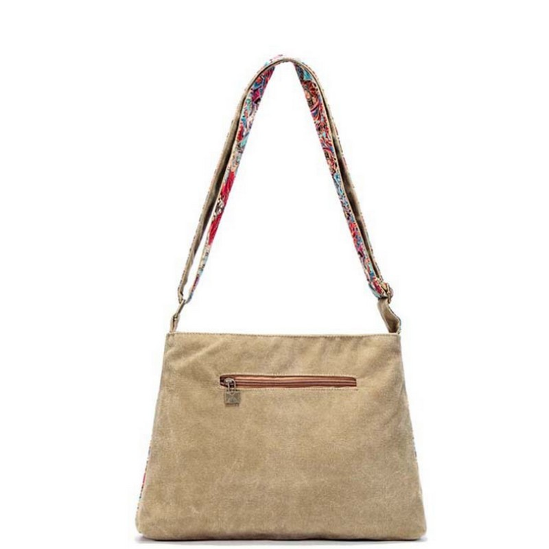Svart fjäril original design Etnisk stil kanfastryck Blomma kvinnlig - Handväskor - Foto 3