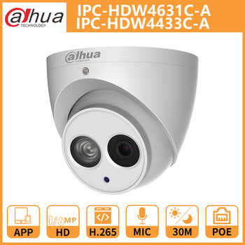 DH Dahua IP Camera 4MP 6MP IPC-HDW4631C-A IPC-HDW4433C-A Dome CCTV Camera with IR Poe Built-in Mic Network metal shell Onvif - DISCOUNT ITEM  18% OFF All Category