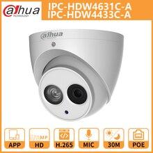 DH ip-камера IPC-HDW4631C-A IPC-HDW4433C-A купольная камера видеонаблюдения Встроенная микрофонная Сеть металлический корпус Onvif Замена IPC-HDW4431C-A