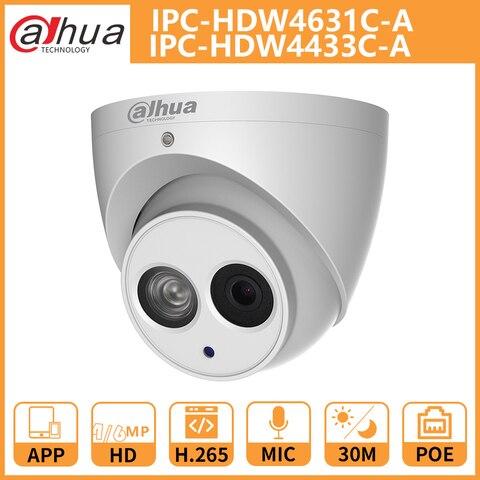 dh dahua camera ip 4mp 6mp ipc hdw4631c a ipc hdw4433c a dome cctv camera