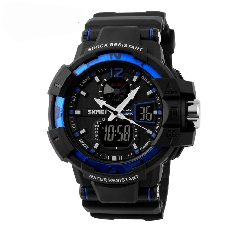 SKMEI 1040 Men LED Digital Quartz Military Watch Blue