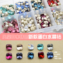 100PCS/Lot New Nail Art Deco Antique Colorful Clear Crystal,Opal & Rhinestone 1984-1998, Free shipping