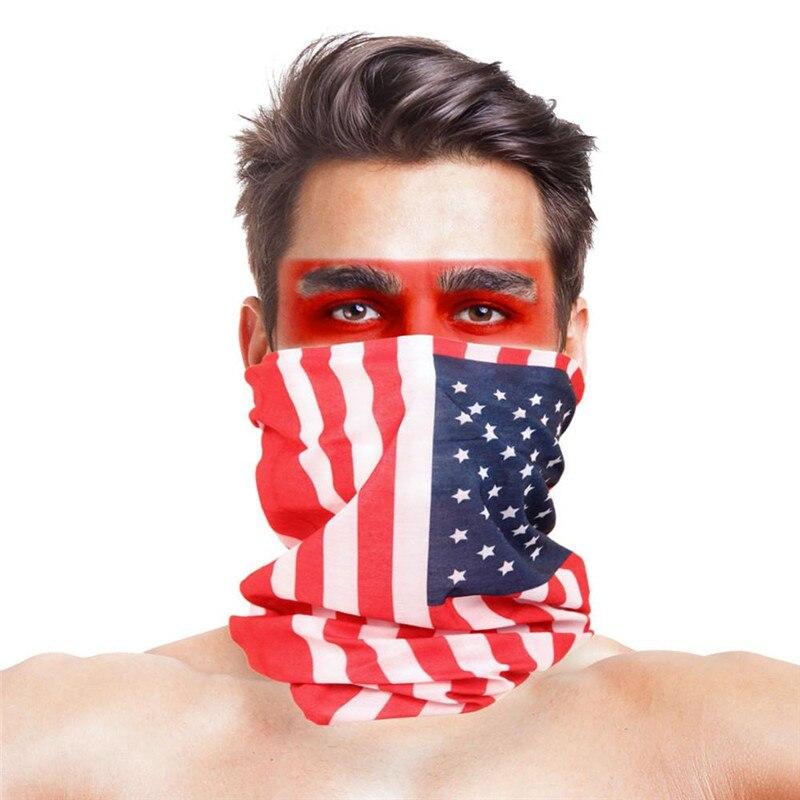 Камуфляжный шарф с высоким прыжком, бандана для мужчин и женщин, маска для лица, тактическая, для улицы, волшебный головной убор, для кемпинга, пешего туризма, шейный шарф - Цвет: 046