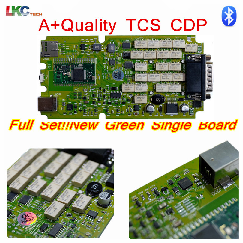 2017 Top Rated TCS CDP Pro New VCI With Bluetooth Single board green software 2014R2 2015