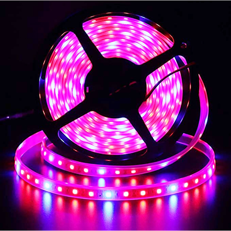 LED Grow Strip 5M/roll Waterproof Red Blue Phyto Lamp 300LEDs 5050 Chip Growth Lights Fitolamp For Indoor Flower Plant Lamp