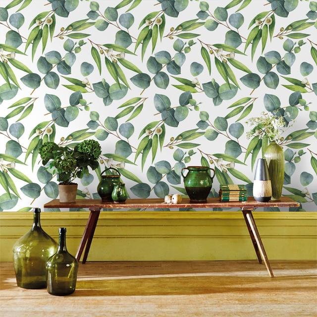 Tuya Cucina Arte carta da parati foglia verde per sfondo muro decorazione  soggiorno murale carta da parati di sconto spedizione gratuita in Tuya ...