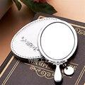 Бесплатная доставка vintage Мини ручка зеркала макияж Серебряный Дворец Ретро подарок