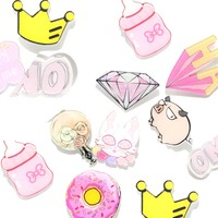 1 PCS Kawaii Badges for Clothing Acrylic Badges Icons on The Backpack Harajuku Badge Pin Brooch Decoration Icon