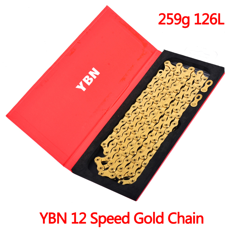 YBN 12 Speed Gold Chain For Shimano Sram Campagnolo Systen Bike Chain For MTB And Road