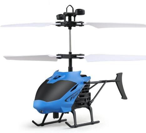 MJD 715 Flying Mini RC Infrared Induction RC Remote Control Helicopter Aircraft Drone Quadcopter LED Flashing Light Kids Toys