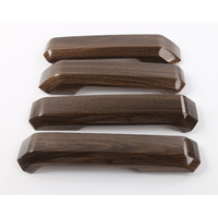 YAQUICKA 4Pcs Set Wood Grain Car Interior Door Handle Grab Cover Trim Styling Sticker For Ford