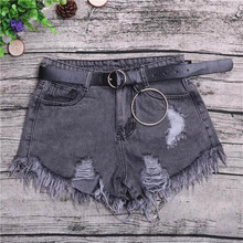 NiceMix 2019 SummerRipped Pocket Women Shorts Summer Casual Denim Vintage Hole Hot for Plus Size S-3XL